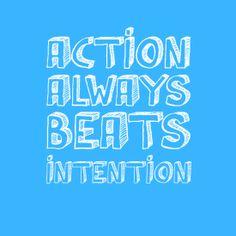 """Action always beats intention"" IB DP CAS"