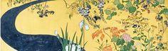 Detail. Ikeda Koson 池田 孤邨, Japan, Edo period, 1856-1858. Japanese folding screen. Rinpa style.