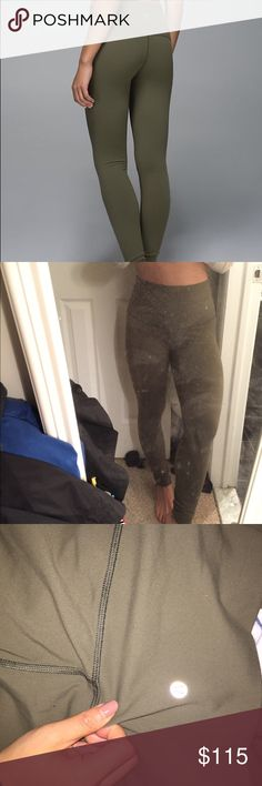 EUC Lululemon Wunder Under Fatigue Green size 6 fatigue green leggings. super popular and sold out color! i do not reach for often enough and it needs a new owner. (cheaper thru 🅿️🅿️ shipping thru here also on Ⓜ️) lululemon athletica Pants