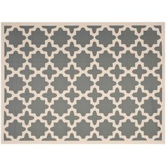 Safavieh Courtyard Fret Indoor Outdoor Rug, Grey