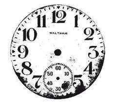 Cadran de montre via poids plume