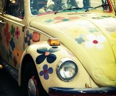 vw bug. Cramming as many people as we could in one to get a picture in the yearbook.