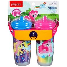 6ea4a63c096 Playtex Sipsters My Little Pony Stage 3 Insulated Spout Sippy Cup 9oz  2-Pack Assorted