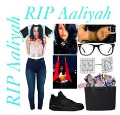 """❤RIP Aaliyah❤"" by jasmine1164 ❤ liked on Polyvore featuring Freaker, Muse, BLANKNYC and Allurez"