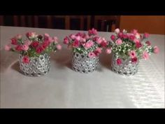 DIY - Vaso para arranjo de mesa - YouTube
