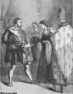 Marriage of Henry VIII and Catherine Parr (print), English School, (19th century) / Private Collection