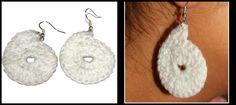 White Paisley Earring