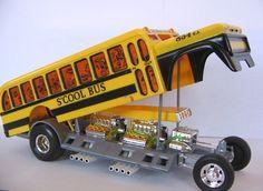 Monogram Plastic Model Kit Designed by Tom Daniel.  S'Cool Bus.