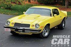 Nickey Chevrolet was the first high-performance dealership to install a 427 engine in the newly introduced Camaro. Here is the very last one produced from Chevrolet Camaro 1970, Chevrolet Dealership, Yellow Camaro, Chevy Dealerships, Old American Cars, Chevy Muscle Cars, Old Classic Cars, Audi Cars, Hot Cars