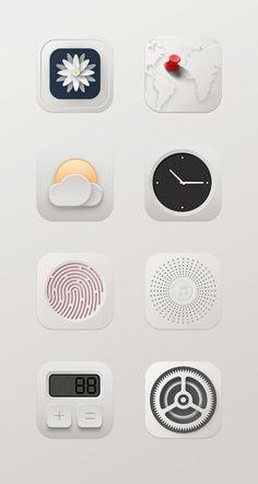 Iphone App Design, Flat Design Icons, Iphone App Layout, App Icon Design, App Ui Design, Mobile App Icon, Ios App Icon, Apple Icon, Cute App