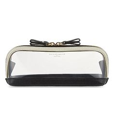 ASPINAL OF LONDON - Hepburn medium cosmetic case | Selfridges.com Travel Cosmetic Bags, Cosmetic Case, Cos Bags, London Bags, Transparent Bag, Slg, Aspinal Of London, Clear Bags, Leather Accessories