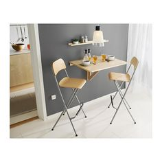 9 Amazing and Simple Dining Room Decor for Compact Houses - Talkdecor Foldable Dining Table, Compact Dining Table, Small Dining, Casual Dining Rooms, Elegant Dining Room, Ikea Folding Chairs, Ikea Barstools, Home Design Software, Wrought Iron Patio Chairs
