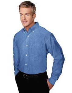 Tri-Mountain Big and Tall 6 oz Cotton Long Sleeve Twill Shirt