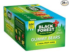 Amazon.com : Black Forest Gummy Bears Candy, 1.5 Ounce (Pack of 24) : Grocery & Gourmet Food Fruit Chews, Fruit Snacks, Baby Snacks, Toddler Snacks, Amazon Subscribe And Save, Gummy Bear Candy, Organic Snacks, Chewy Candy, Sweets