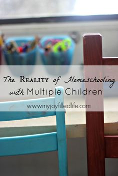 The Reality of Homeschooling with Multiple Children - My Joy-Filled Life