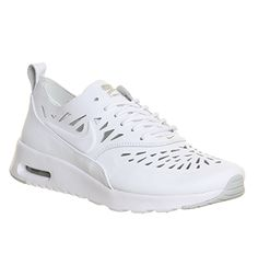 Nike Air Max Thea Cut Out White Grey - Hers trainers
