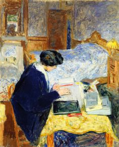Lucy Hessel Reading (1913).Édouard Vuillard (French, 1868–1940).Oil on canvas.The Jewish Museum, New York.