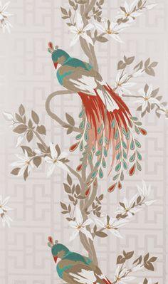 Nina Campbell  Collection:   Paradiso Wallpaper  via fabricstudio.com.au