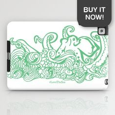 Get your very own Stormy Sea Studio Octopus design on a ipad skin! As part of my #LoveTheSea series, 10% of the profits will be donated to the Suncoast Surfrider Foundation.