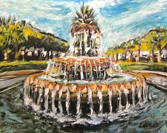 Charleston Fountain Print By Alan Metzger