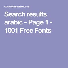 Search results arabic - Page 1 - 1001 Free Fonts