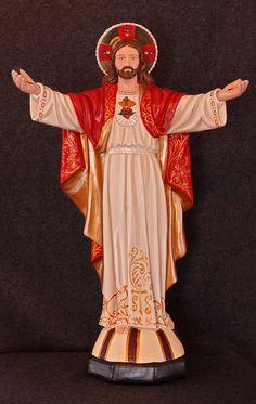 "Jesus Beckoning 18"" Sacred Heart Statue Catholic Christian Religious Statue"