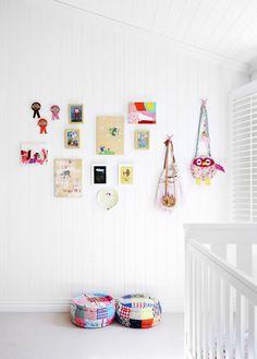 Perfect for the kids art wall kids, art for kids, australian homes, nursery Nursery Inspiration, Interior Inspiration, Art Wall Kids, Art For Kids, Brisbane, The Design Files, Australian Homes, Kid Spaces, Family Kids