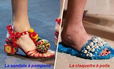 A gauche: Dolce & Gabbana; A droite: Miu Miu