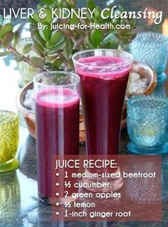 Detox Juice Cleanse Recipes & Detox Drinks For Weight Loss Healthy Juice Recipes, Juicer Recipes, Healthy Detox, Healthy Juices, Detox Recipes, Healthy Smoothies, Healthy Drinks, Easy Detox, Detox Foods