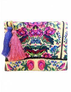 Baby Etno Pouch by Lana Dumitru Digitally Printed PouchComes with 2 surprise - coloured tassels! 21 cm longFor more info : Lana Hiking Bag, Folk Embroidery, Cute Bags, Evening Bags, Travel Bags, Drawstring Backpack, Leather Bag, Digital Prints, Shopping Bag