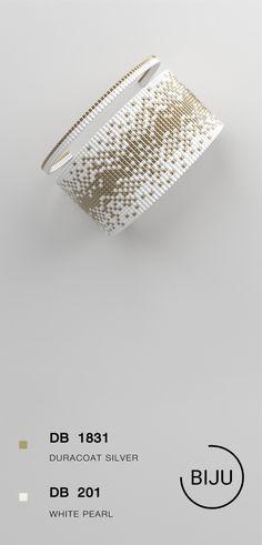 US$4.72 Loom bracelet pattern, loom pattern, miyuki pattern, square stitch pattern, pdf file, pdf pattern, cuff #23BIJU