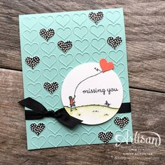 Valentine Blues featuring Happy Home stamp set ~ Cindy Schuster for Fancy Friday Blog Hop