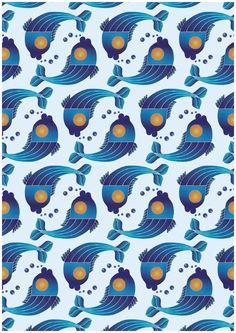 Illustrated pattern design created for children textiles. Graphic Patterns, Graphic Design Art, Textile Patterns, Shape Patterns, Textiles, Green Turquoise, Blue Green, Yellow, Motif Design
