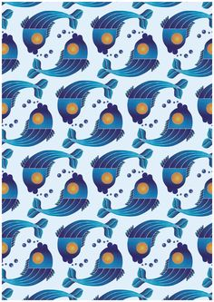 Illustrated pattern. by Gabriella Fritzson, via Behance