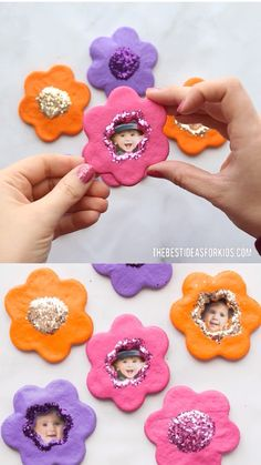 Mothers day crafts for kids - Salt Dough Flower Magnets – Mothers day crafts for kids Diy Gifts For Mom, Mothers Day Crafts For Kids, Diy Mothers Day Gifts, Easy Diy Gifts, Fathers Day Crafts, Easter Crafts For Kids, Toddler Crafts, Homemade Gifts, Parent Gifts