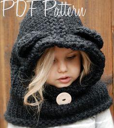 PATRON de tricot  Burton ours col 6/9 mois  par Thevelvetacorn