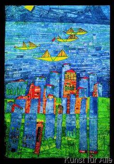Friedensreich Hundertwasser - 117 Gelbe Schiffe - Meer von Tunis