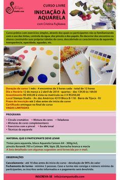 Iniciação à Aquarela, com Cristina Fujikawa | Stampa Studio, Rio | 12 de março a 2 de abril de 2014.