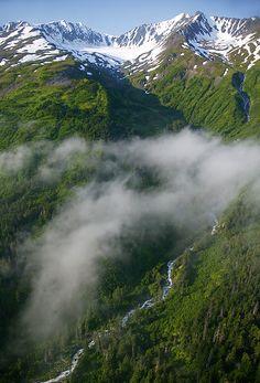 Aerial Photo of Kenai Fjords, National Park Alaska Alaska Usa, Alaska Travel, Places Around The World, Around The Worlds, Beautiful World, Beautiful Places, Places To Travel, Places To Visit, Travel Destinations