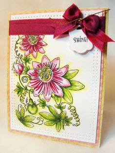 Passion Flower by outtoimpress - Cards and Paper Crafts at Splitcoaststampers