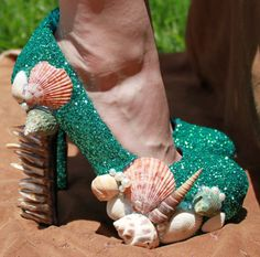 mermaid shoes...I will wear these before I go back into the ocean!