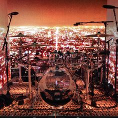 "georgestaniel:  ""George's drums. No filter. Ridiculous.""ph: john waugh"