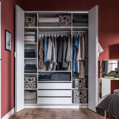 4YOU BI FOLD 4 DOOR WARDROBE with Built in Drawers in White | Walk in wardrobe | Storage Solutions