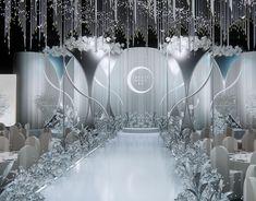 Wedding concept - Paris in the rain on Behance Wedding Stage Backdrop, Wedding Backdrop Design, Wedding Hall Decorations, Wedding Stage Design, Wedding Themes, Wedding Designs, Wedding Venues, Wedding Mandap, Wedding Ideas