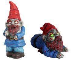 Zombie Garden Gnome, Zombie Trädgårdstomte. Också ett bra julklapps tips..vet exact vem som ska få den.