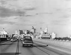 Downtown Dallas from Houston viaduct, 1950