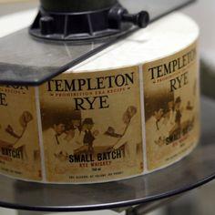 Templeton Rye whiskey lables