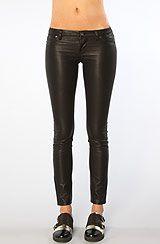 Blank NYC The Vegan Leather Super Skinny Pant in Black Beans- Karmaloop
