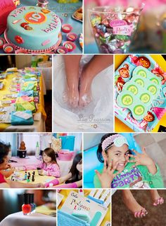 spa slumber party ideas - Can't wait for Evelyn to be old enough for this...I'm coming too!