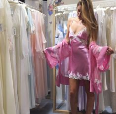 🌹 Shopping For Dreamy Sleepwear. Satin Underwear, Satin Lingerie, Pretty Lingerie, Vintage Lingerie, Beautiful Lingerie, Lingerie Drawer, Satin Nightie, Silk Chemise, Satin Sleepwear
